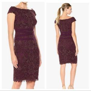 Tadashi blackberry lace dress